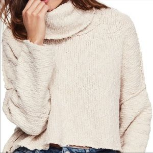 NWT Free People Big Easy Cowl Neck Sweater Large